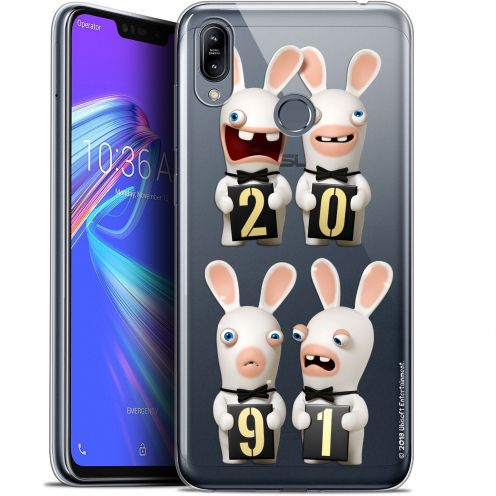 """Coque Gel Asus Zenfone Max (M2) ZB633KL (6.3"""") Extra Fine Lapins Crétins™ - New Year"""