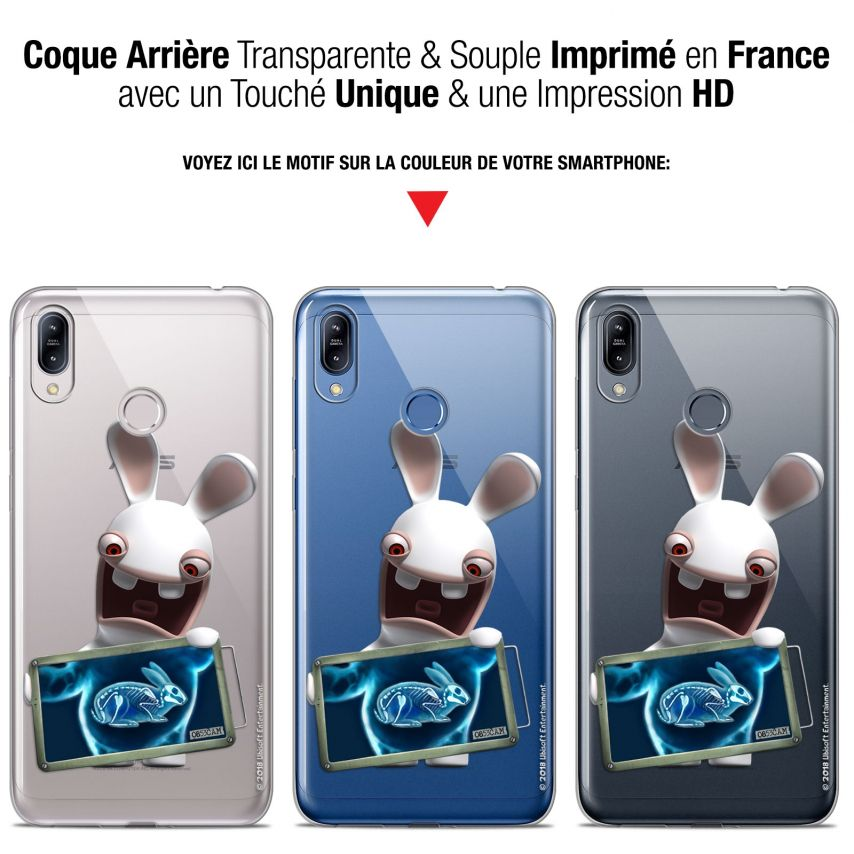 """Coque Gel Asus Zenfone Max (M2) ZB633KL (6.3"""") Extra Fine Lapins Crétins™ - X Ray Crétin"""