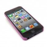Vue portée de Coque Ultra Fine0.3mm Frost iPhone 5 Rose