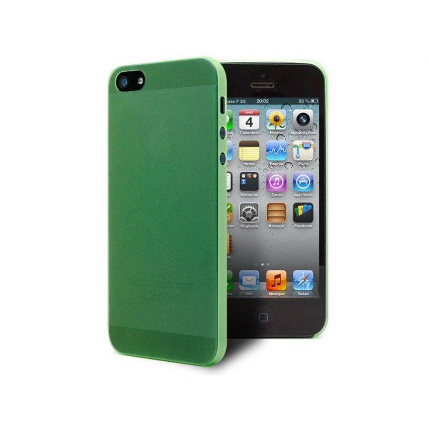 Vue complémentaire de Coque Ultra Fine0.3mm Frost iPhone 5 Verte