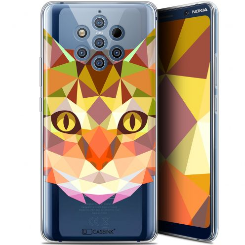 """Coque Gel Nokia 9 PureView (6"""") Extra Fine Polygon Animals - Chat"""