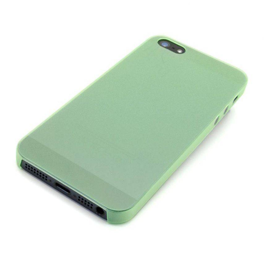 Visuel unique de Coque Ultra Fine0.3mm Frost iPhone 5 Verte