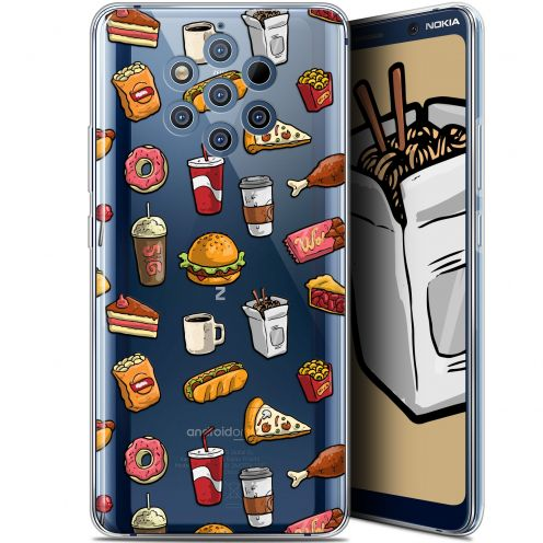 """Coque Gel Nokia 9 PureView (6"""") Extra Fine Foodie - Fast Food"""