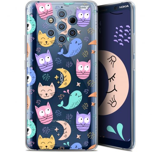"Coque Gel Nokia 9 PureView (6"") Extra Fine Motif - Chat Hibou"