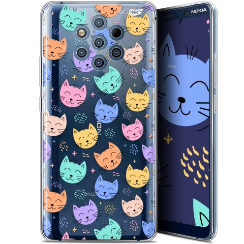 "Coque Gel Nokia 9 PureView (6"") Extra Fine Motif -  Chat Dormant"