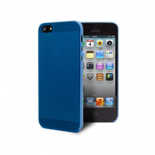 Coque Ultra Fine 0.3mm Frost iPhone 5 / 5S / SE Bleue