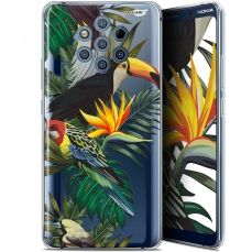 "Coque Gel Nokia 9 PureView (6"") Extra Fine Motif -  Toucan Tropical"