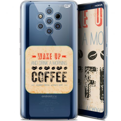 "Coque Gel Nokia 9 PureView (6"") Extra Fine Motif -  Wake Up With Coffee"