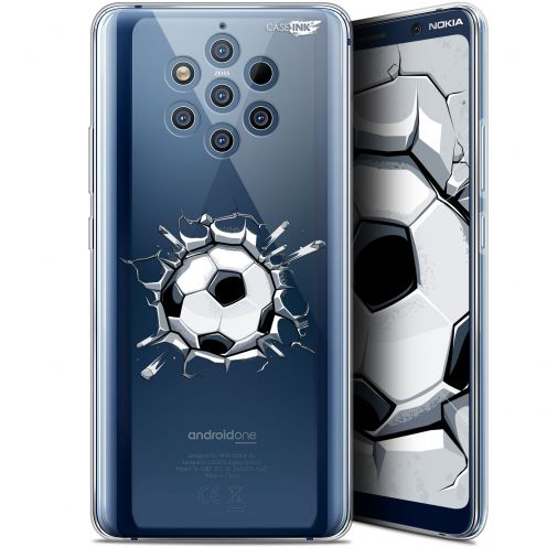 "Coque Gel Nokia 9 PureView (6"") Extra Fine Motif -  Le Balon de Foot"