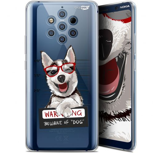 "Coque Gel Nokia 9 PureView (6"") Extra Fine Motif -  Beware The Husky Dog"