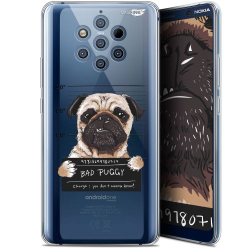 "Coque Gel Nokia 9 PureView (6"") Extra Fine Motif -  Beware The Puggy Dog"