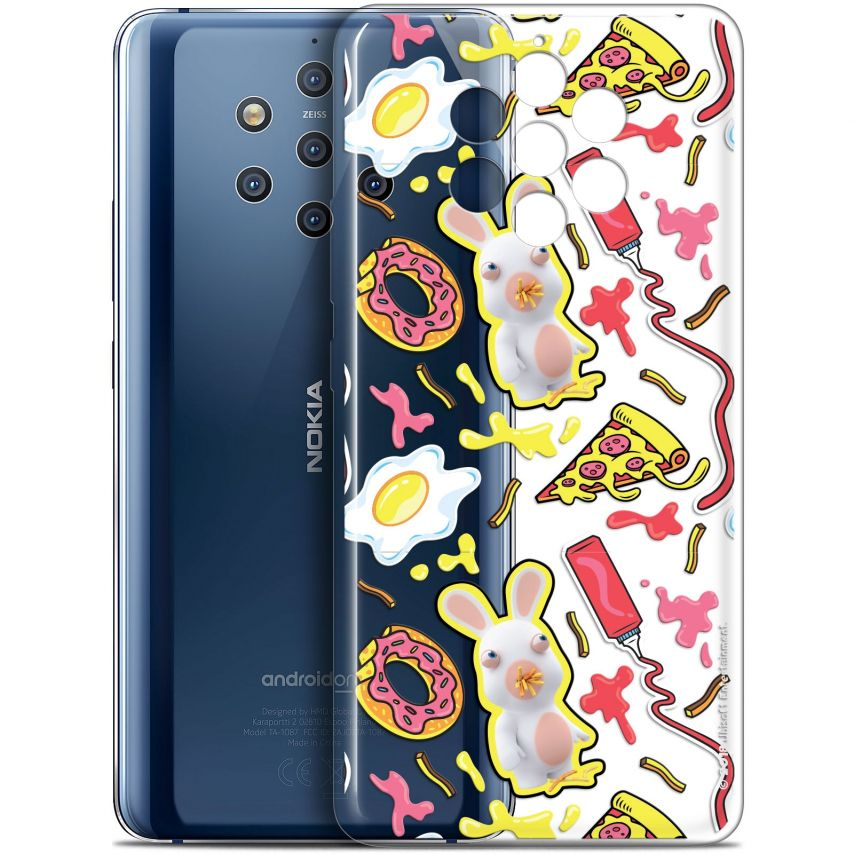"""Coque Gel Nokia 9 PureView (6"""") Extra Fine Lapins Crétins™ - Egg Pattern"""