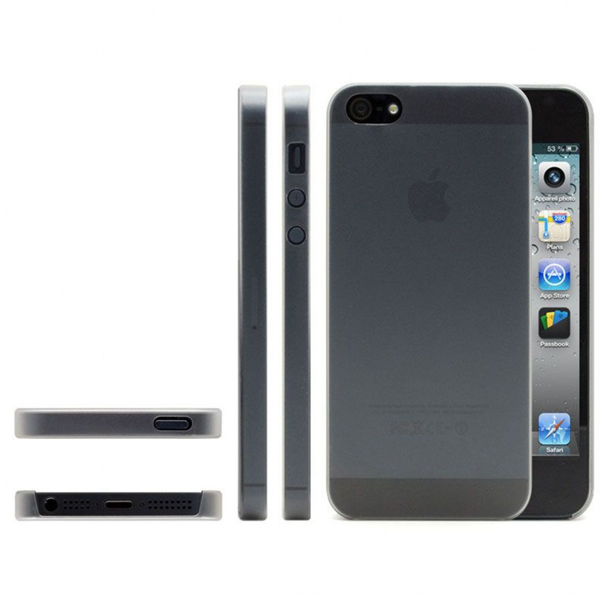 Photo réelle de Coque Ultra Fine0.3mm Frost iPhone 5 Blanche
