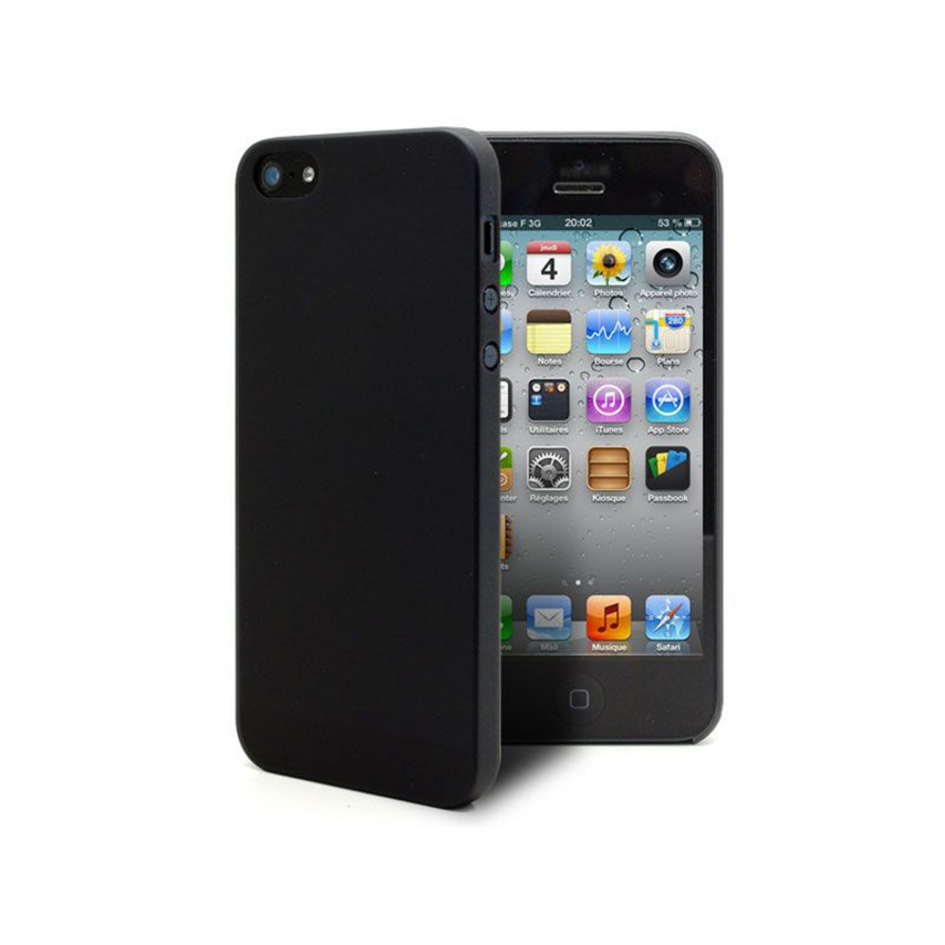 coque iphone 5 noir mate