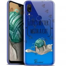 """Coque Gel Xiaomi Redmi 7 (6.26"""") Extra Fine Quote - Life's Better With a Cat"""