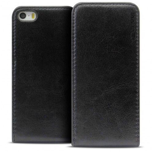 coque iphone 5 cuir noir