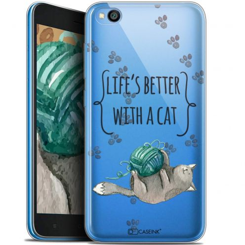 "Coque Gel Xiaomi Redmi Go (5"") Extra Fine Quote - Life's Better With a Cat"