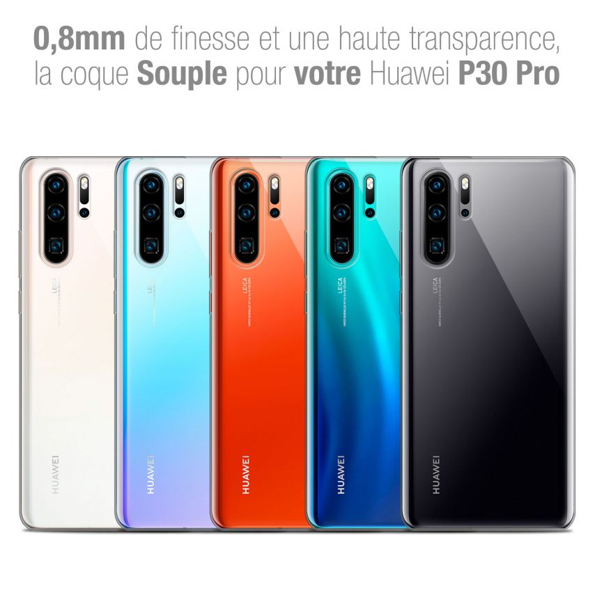 """Coque Huawei P30 Pro (6.47"""") Extra Fine Souple Crystal Clear"""