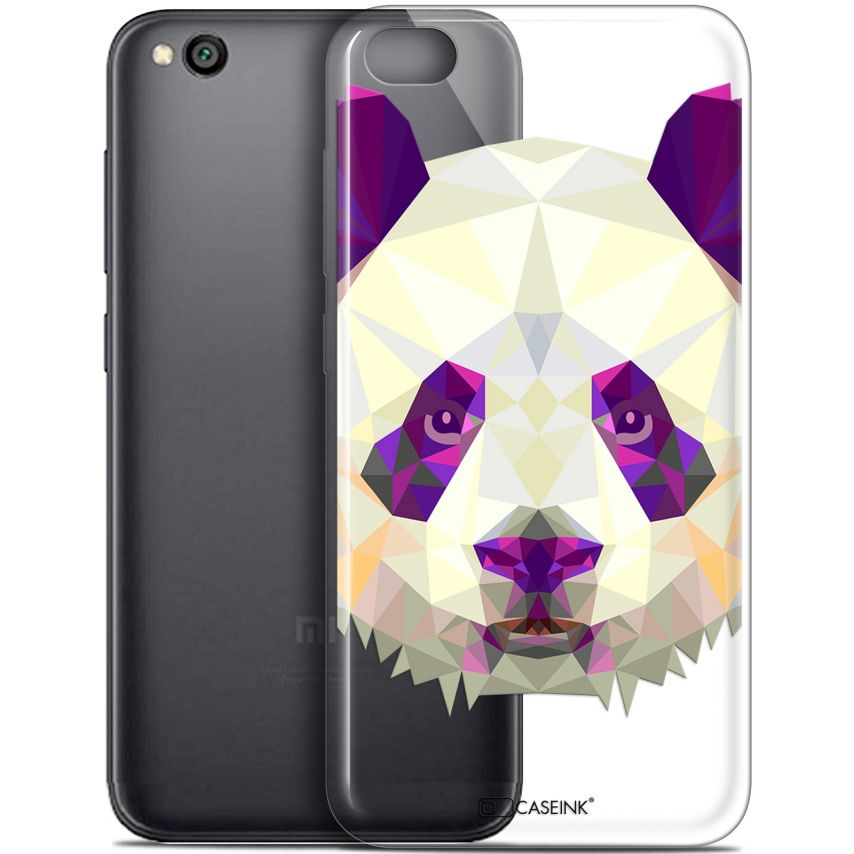 "Coque Gel Xiaomi Redmi Go (5"") Extra Fine Polygon Animals - Panda"