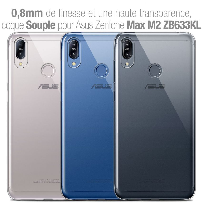 "Coque Asus Zenfone Max (M2) ZB633KL (6.3"") Extra Fine Souple Crystal Clear"