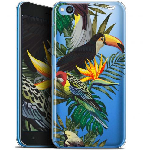 "Coque Gel Xiaomi Redmi Go (5"") Extra Fine Motif -  Toucan Tropical"