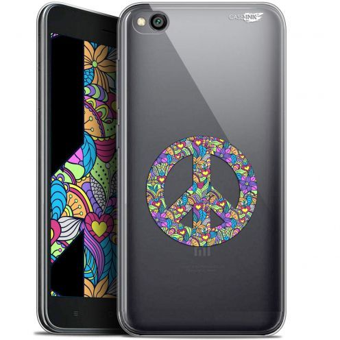 "Coque Gel Xiaomi Redmi Go (5"") Extra Fine Motif -  Peace And Love"