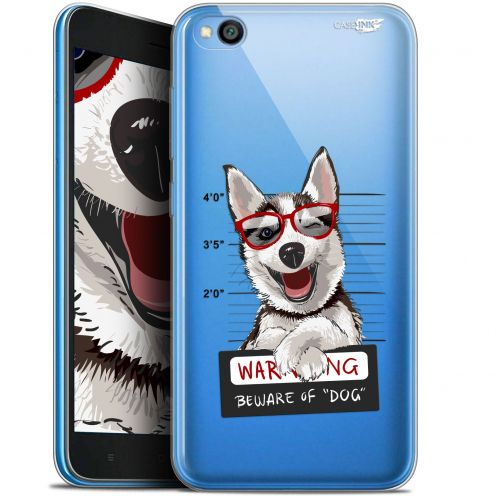 "Coque Gel Xiaomi Redmi Go (5"") Extra Fine Motif -  Beware The Husky Dog"