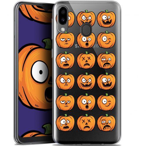 """Coque Gel Samsung Galaxy M20 (6.3"""") Extra Fine Halloween - Cartoon Citrouille"""