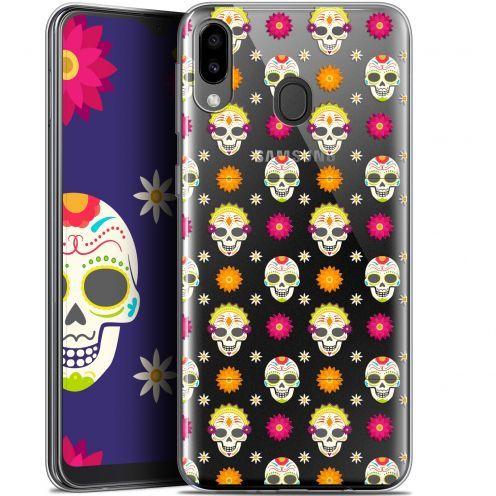 "Coque Gel Samsung Galaxy M20 (6.3"") Extra Fine Halloween - Skull Halloween"
