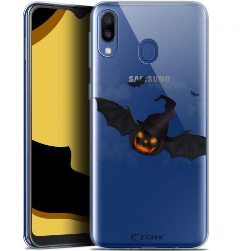 """Coque Gel Samsung Galaxy M20 (6.3"""") Extra Fine Halloween - Chauve Citrouille"""