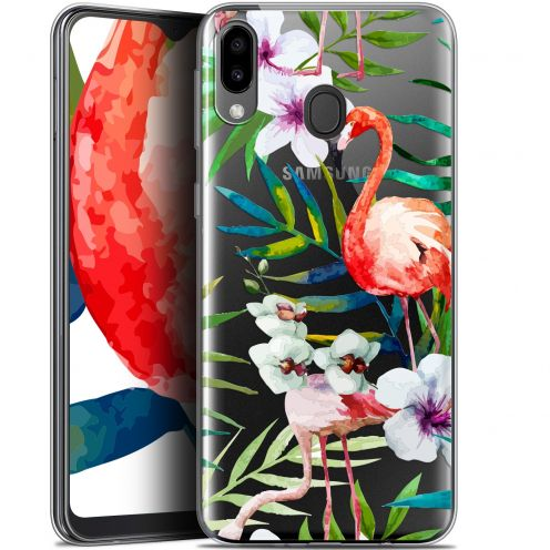 "Coque Gel Samsung Galaxy M20 (6.3"") Extra Fine Watercolor - Tropical Flamingo"