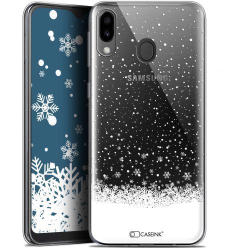 "Coque Gel Samsung Galaxy M20 (6.3"") Extra Fine Noël 2017 - Flocons de Neige"