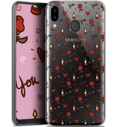 "Coque Gel Samsung Galaxy M20 (6.3"") Extra Fine Love - Bougies et Roses"