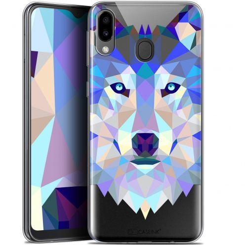 "Coque Gel Samsung Galaxy M20 (6.3"") Extra Fine Polygon Animals - Loup"