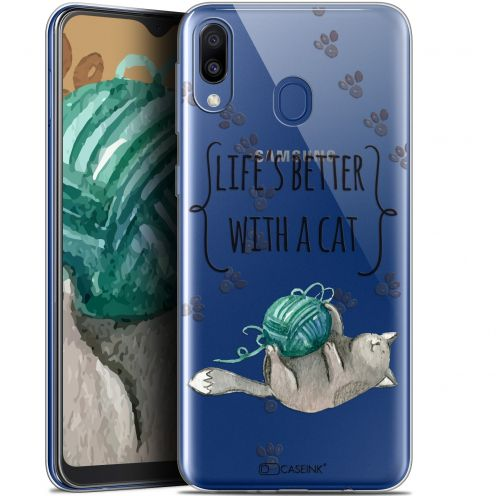 """Coque Gel Samsung Galaxy M20 (6.3"""") Extra Fine Quote - Life's Better With a Cat"""