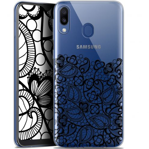 "Coque Gel Samsung Galaxy M20 (6.3"") Extra Fine Spring - Bas dentelle Noir"