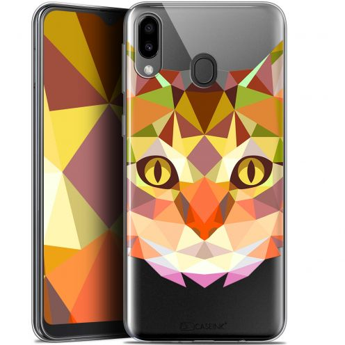 "Coque Gel Samsung Galaxy M20 (6.3"") Extra Fine Polygon Animals - Chat"