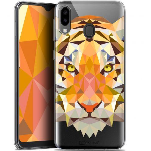 """Coque Gel Samsung Galaxy M20 (6.3"""") Extra Fine Polygon Animals - Tigre"""