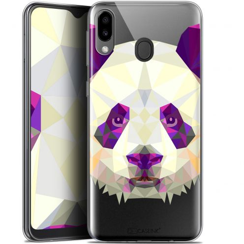 "Coque Gel Samsung Galaxy M20 (6.3"") Extra Fine Polygon Animals - Panda"