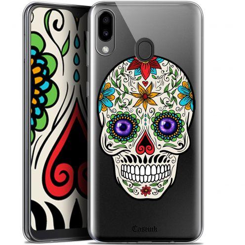 "Coque Gel Samsung Galaxy M20 (6.3"") Extra Fine Skull - Maria's Flower"