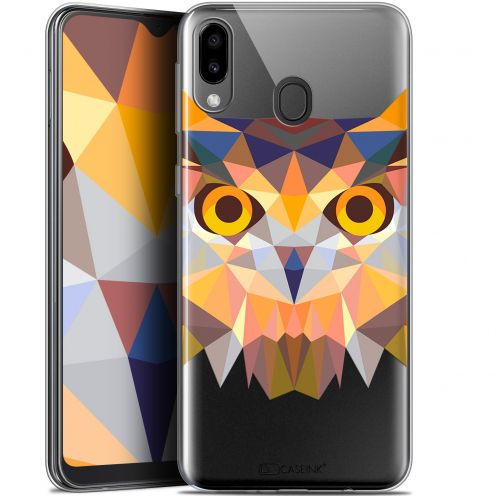 "Coque Gel Samsung Galaxy M20 (6.3"") Extra Fine Polygon Animals - Hibou"