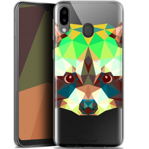 "Coque Gel Samsung Galaxy M20 (6.3"") Extra Fine Polygon Animals - Raton Laveur"