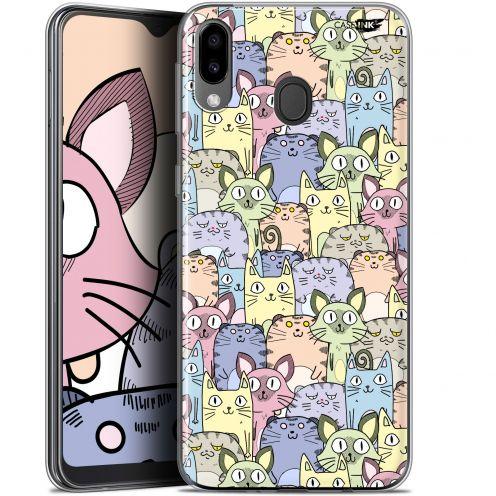 "Coque Gel Samsung Galaxy M20 (6.3"") Extra Fine Motif - Foule de Chats"