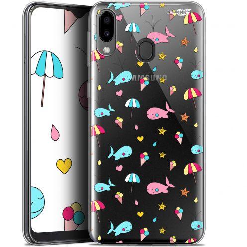 """Coque Gel Samsung Galaxy M20 (6.3"""") Extra Fine Motif - Baleine à la Plage"""