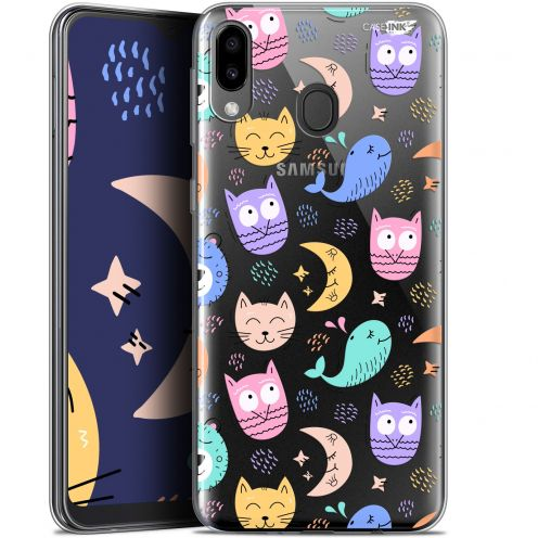 "Coque Gel Samsung Galaxy M20 (6.3"") Extra Fine Motif - Chat Hibou"