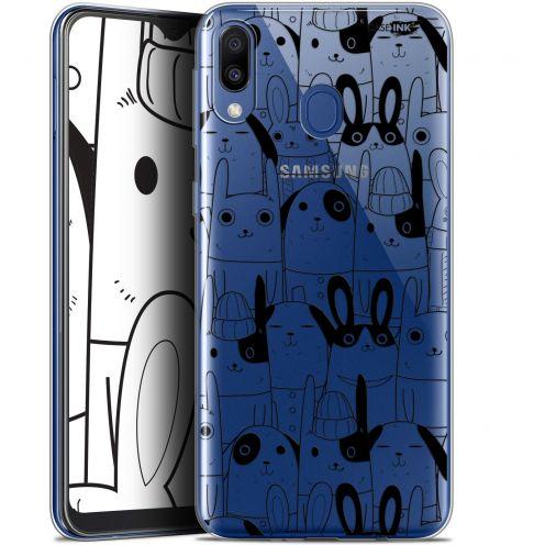 "Coque Gel Samsung Galaxy M20 (6.3"") Extra Fine Motif - Lapin Noir"