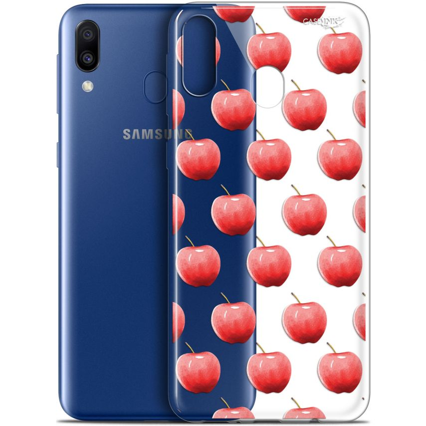 "Coque Gel Samsung Galaxy M20 (6.3"") Extra Fine Motif - Cerises"