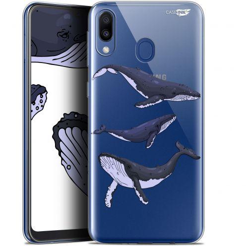 """Coque Gel Samsung Galaxy M20 (6.3"""") Extra Fine Motif - Les 3 Baleines"""