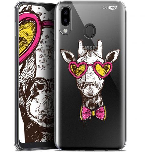 "Coque Gel Samsung Galaxy M20 (6.3"") Extra Fine Motif - Hipster Giraffe"