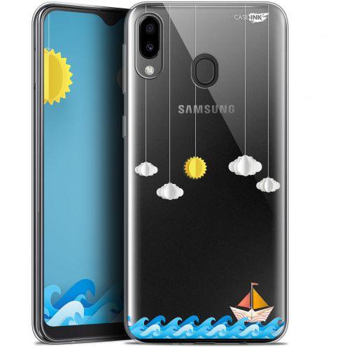 """Coque Gel Samsung Galaxy M20 (6.3"""") Extra Fine Motif -  Petit Bateau en Mer"""
